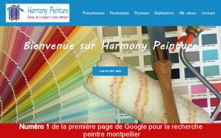 webmaster montpellier et création site internet montpellier, réalisation pour Harmony Peinture