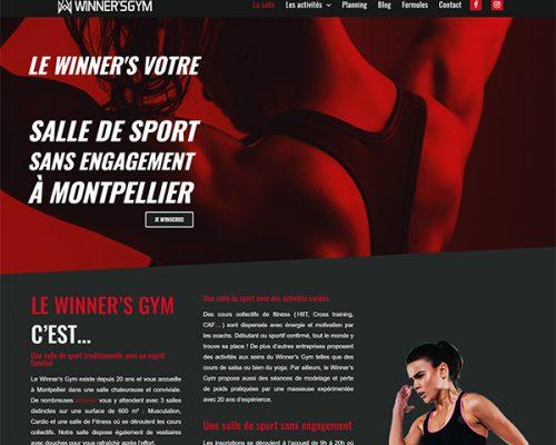 webmaster montpellier et création site internet montpellier, réalisation pour le winner's gym